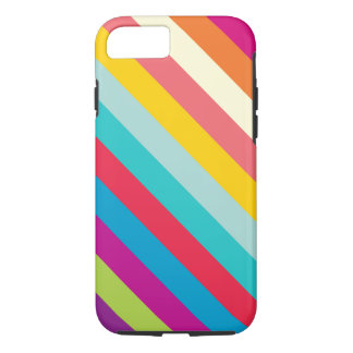 Diagonal Stripes In Summer Colors iPhone 7 Case