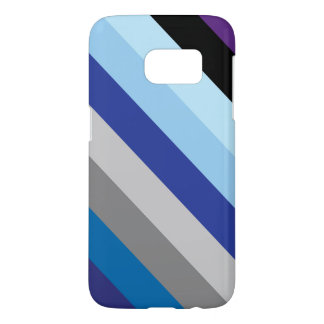 Diagonal Stripes In Winter Colors Samsung Galaxy S7 Case