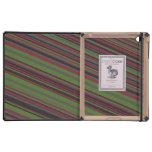 Diagonal stripes iPad folio case