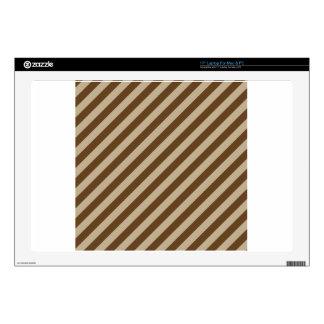 "Diagonal Stripes - Khaki and Dark Brown Skins For 17"" Laptops"