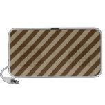 Diagonal Stripes - Khaki and Dark Brown iPod Speaker