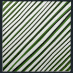 """Diagonal Stripes Pattern Napkin<br><div class=""""desc"""">Digital technique abstract geometric stripes pattern background design in green and white tones</div>"""