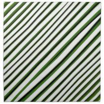 Diagonal Stripes Pattern Napkin