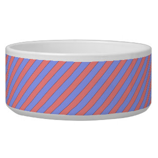 diagonal stripes pink and purple bowl