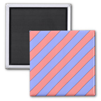 diagonal stripes pink and purple magnet