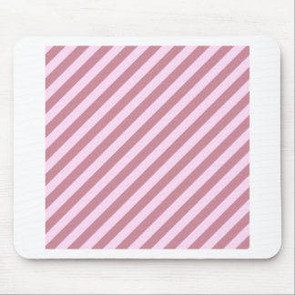 Diagonal Stripes - Pink Lace and Puce Mouse Pad