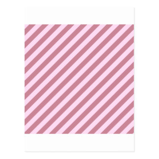 Diagonal Stripes - Pink Lace and Puce Postcard