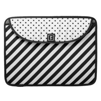 "Diagonal Stripes Polka Dots 15"" Laptop Sleeve | MacBook Pro Sleeves"