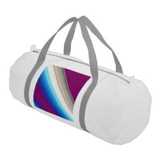 diagonal stripes purple blue gym duffle bag
