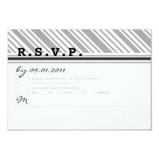 "Diagonal Stripes Response Card 3.5"" X 5"" Invitation Card"