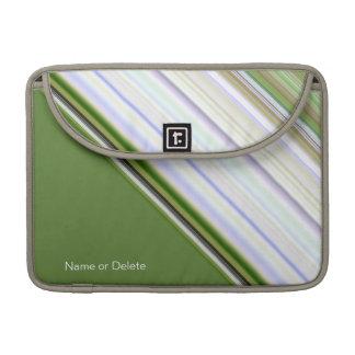 Diagonal Stripes White Unisex Macbook Pro Sleeve