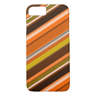 "Diagonal Stripes with ""Earthy"" Colors iPhone 8/7 Case"