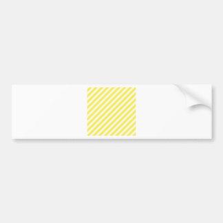 Diagonal Stripes-Yellow2-Light Yellow and Corn Bumper Stickers