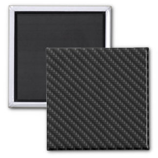 Diagonal Tightly Woven Carbon Fiber Texture 2 Inch Square Magnet