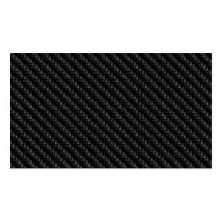 Diagonal Tightly Woven Carbon Fiber Texture Business Card
