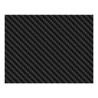 Diagonal Tightly Woven Carbon Fiber Texture Full Color Flyer