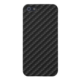 Diagonal Tightly Woven Carbon Fiber Texture iPhone SE/5/5s Cover