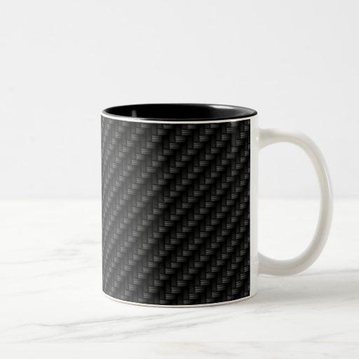 Diagonal Tightly Woven Carbon Fiber Texture Mug