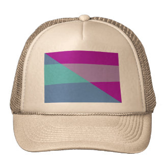 Diagonal Trucker Hat