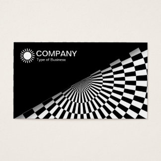 Diagonal V2 - Black - Op Art Black and White Business Card