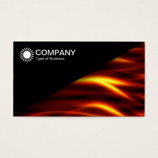 Diagonal V2 - Black - Tongues of Fire Business Card