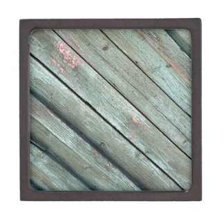 Diagonal view of the old fence from wooden planks gift box