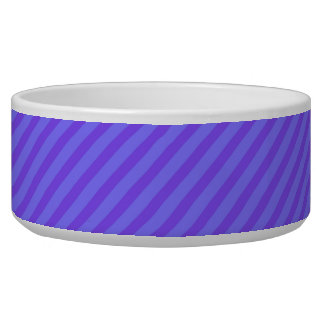 Diagonal Violet Purple Stripes Bowl