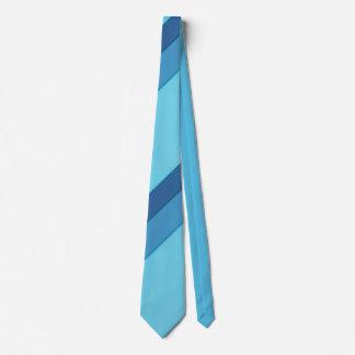 Diagonal Wide Blue Stripes Ties