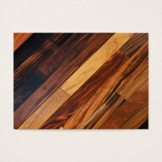 Diagonal Wood Flooring Business Card
