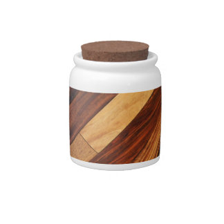 Diagonal Wood Flooring Candy Dishes