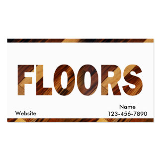 Diagonal Wood Flooring Double-Sided Standard Business Cards (Pack Of 100)