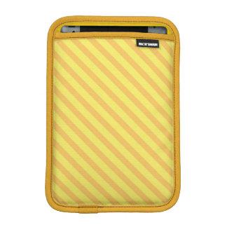 Diagonal yellow orange Stripes iPad Mini Sleeve