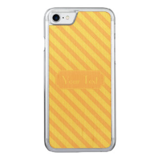 Diagonal yellow orange Stripes text Carved iPhone 7 Case