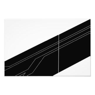 Diagonales en blanco y negro fotografías