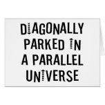 Diagonally Parked Card