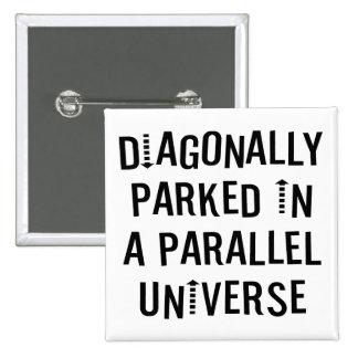 Diagonalmente parqueado pin cuadrado