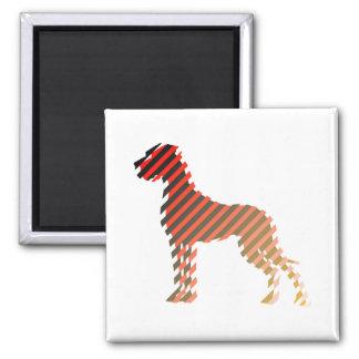 Diagonalstreifendogge 2 Inch Square Magnet