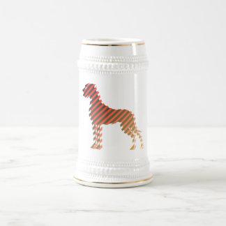 Diagonalstreifendogge Beer Stein