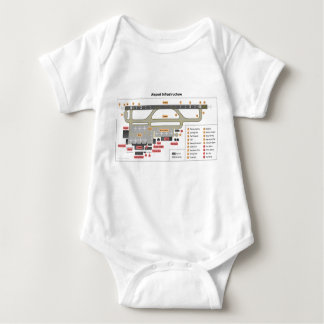 Diagram Basic Layout Infrastructure of an Airport Baby Bodysuit