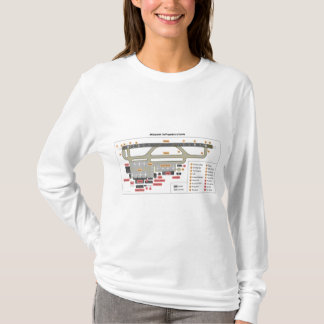 Diagram Basic Layout Infrastructure of an Airport T-Shirt