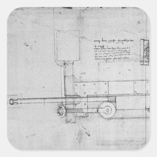 Diagram of a Mechanical Bolt Square Sticker
