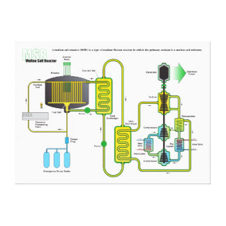 Diagram of a Molten Salt Nuclear Fission Reactor Stretched Canvas Print