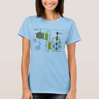 Diagram of a Molten Salt Nuclear Fission Reactor T-Shirt
