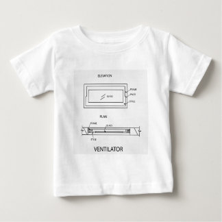 Diagram of a ventilator showing plan and elevation baby T-Shirt