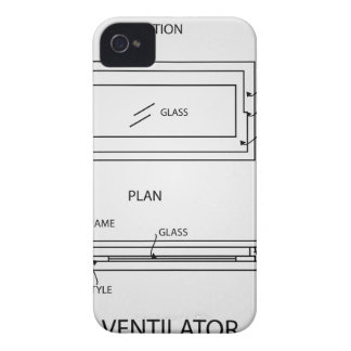 Diagram of a ventilator showing plan and elevation Case-Mate iPhone 4 case