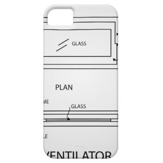 Diagram of a ventilator showing plan and elevation iPhone SE/5/5s case