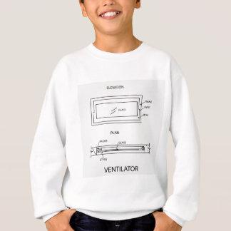 Diagram of a ventilator showing plan and elevation sweatshirt