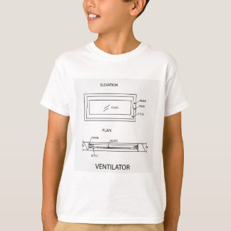 Diagram of a ventilator showing plan and elevation T-Shirt