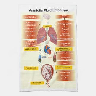 Diagram of an Amniotic Fluid Embolism AFE Hand Towel