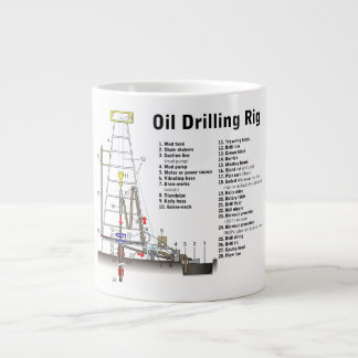 Diagram of an Oil Drilling Rig Tower Giant Coffee Mug